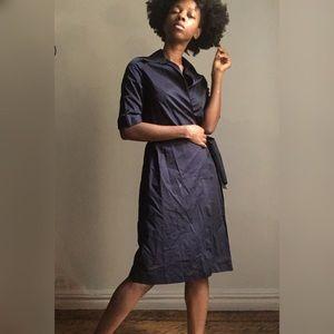 True blues wrap dress